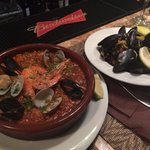 Salty mussels and even saltier paella