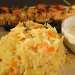 Chicken Souvlaki (it's out of focus but you get the idea)