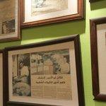 The falafel wall of fame at al quds falafel:)