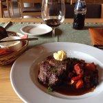 Biff for Dinner at restaurant in Hotel Hanasaari