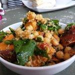 Chickpea sweetpotato/ satay salad
