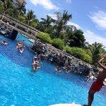 Water aerobics at the pool!