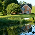 View of Inn from across the old mill pond