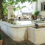 jardin terrasse avec la grande fontaine