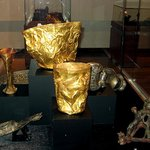 Golden cups with decoration, firts mill. BCE from Hasanlu and Marlik
