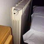 Very noisy at night, next to a roaring radiator