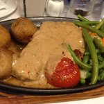 Sirlion Steak with Peppered Sauce & Canarian Potatoes