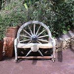a place to rest a horse carriage wheel