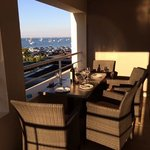 dining on balcony at room 120