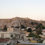 View of Acropolis from our room's balcony