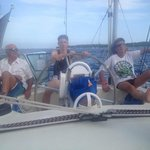 Pierre, Eric and Lloyd at the helm