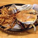 Nics burger and fries