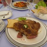 An excellent T-bone steak cooked perfectly!