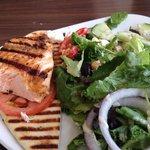 Salmon Mediterranean salad.