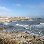 Walk along the shoreline on safe paths for miles