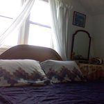 main bedroom overlooks the sea
