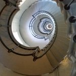 we were almost to the top of the lighthouse.  picture is looking down from the top