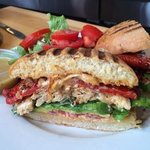 Grilled chipotle chicken sandwich