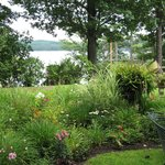 View of Lake George from garden