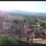 Vue panoramique photographiée avec le smartphone