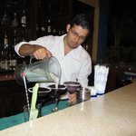 Christofer making the best Margaritas of Mexico!