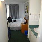 Our corner room with en suite sink.
