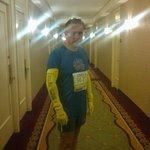Muy de mañana antes del NY marathon