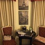 Detalhe da decoração nos quartos.
