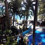 Fresh water pool and veranda bellow
