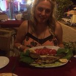 Grouper fish. Very tasty but I was still hungry after I had finished