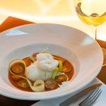 """Italian «Burrata» in cold tomato soup with """"Balsamic"""""""
