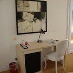Desk with minibar