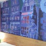 Zimmeransicht Wand hinterm Bett