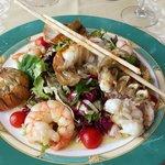 salade d'été gambas et queues de cigale