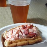 My first lobster roll.  Delicious