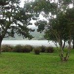 Lago Azul visto dal basso