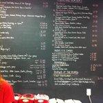 Blackboard menu + burger of the month