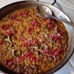 arroz de celos y alcachofas con jamon