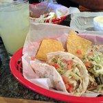 fish tacos and margarita