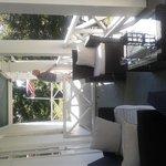 Private balcony St Charles Inn