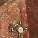 Cracked Marble in Bathroom