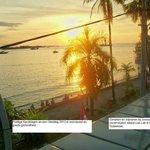 Sunset view from KIos Semarang Island Lae Lae