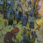 Peinture exposée à la galerie