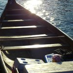 Replica Heritage freighter canoe that we paddled in