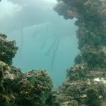 A view to part of the inside of the San Luciano shipwreck.