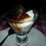 THE yugurt dessert with cherry preserves