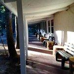 morning sun light at the lodge