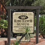 Roadside sign in front of the King Museum near downtown Kingsville.