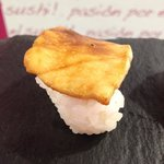 Nigiri picante de pez mantequilla