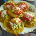 My plate of salbutes.  Yummy!